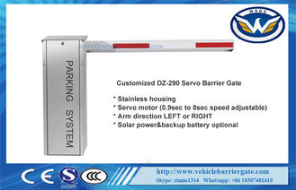 Stainless Barrier 200W Servo Motor Traffic Barrier Gate 10 Millions Lifetime With Anti-collision